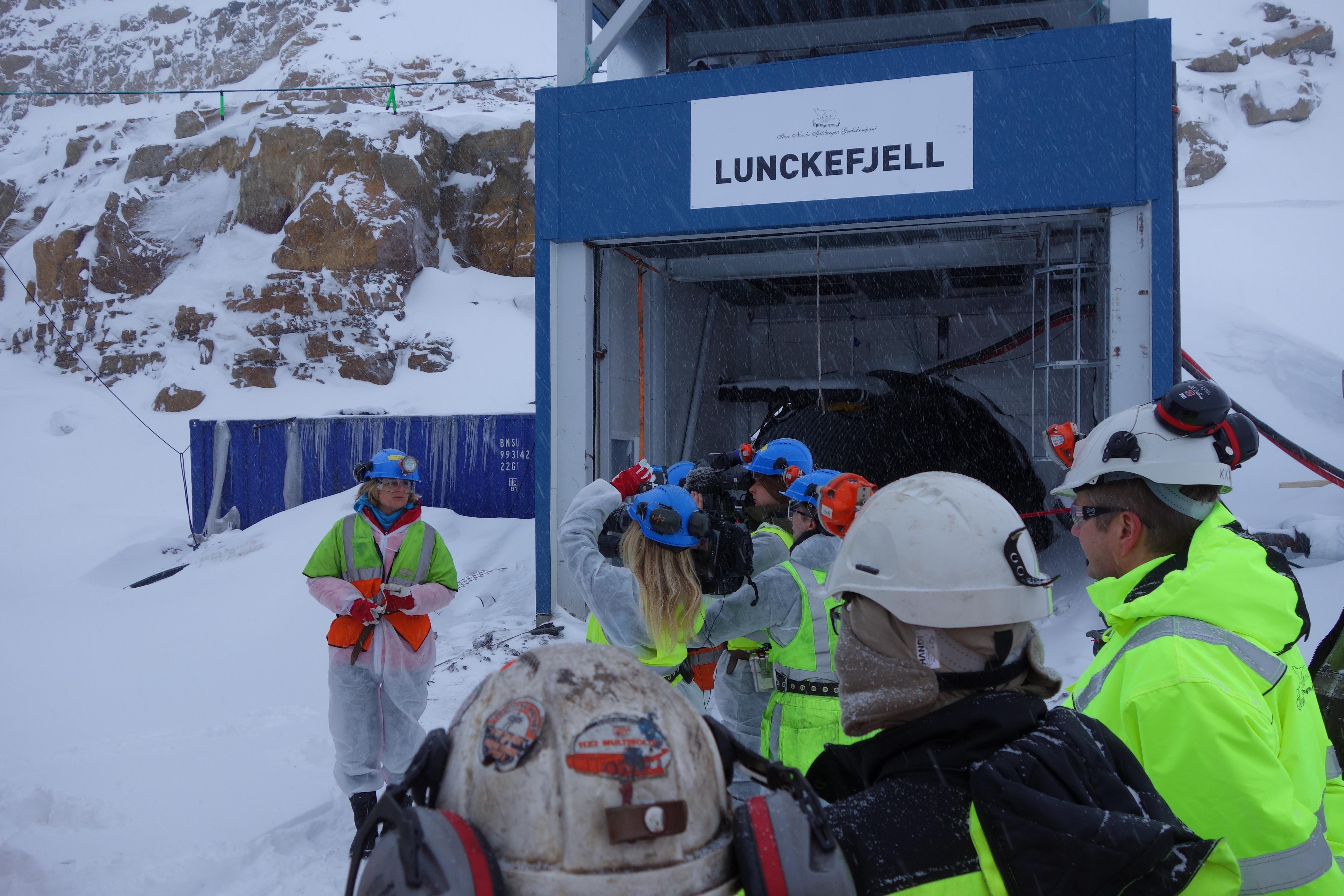 Styreleder Annette Malm Justad - åpning Lunckefjell. Foto Store Norske