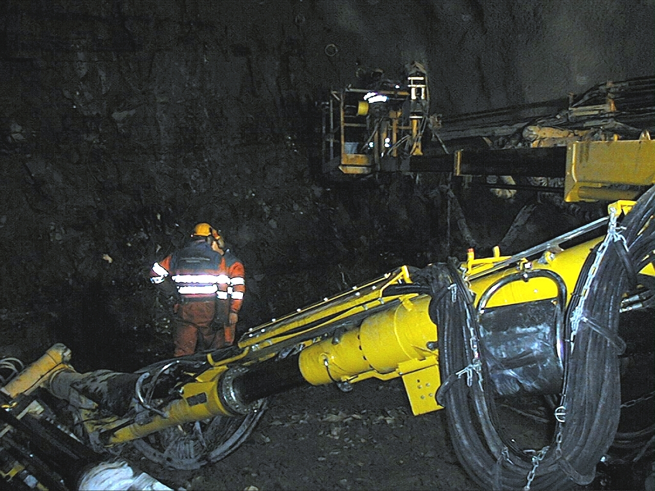 Borrerigg i transporttunnelen. Foto Store Norske