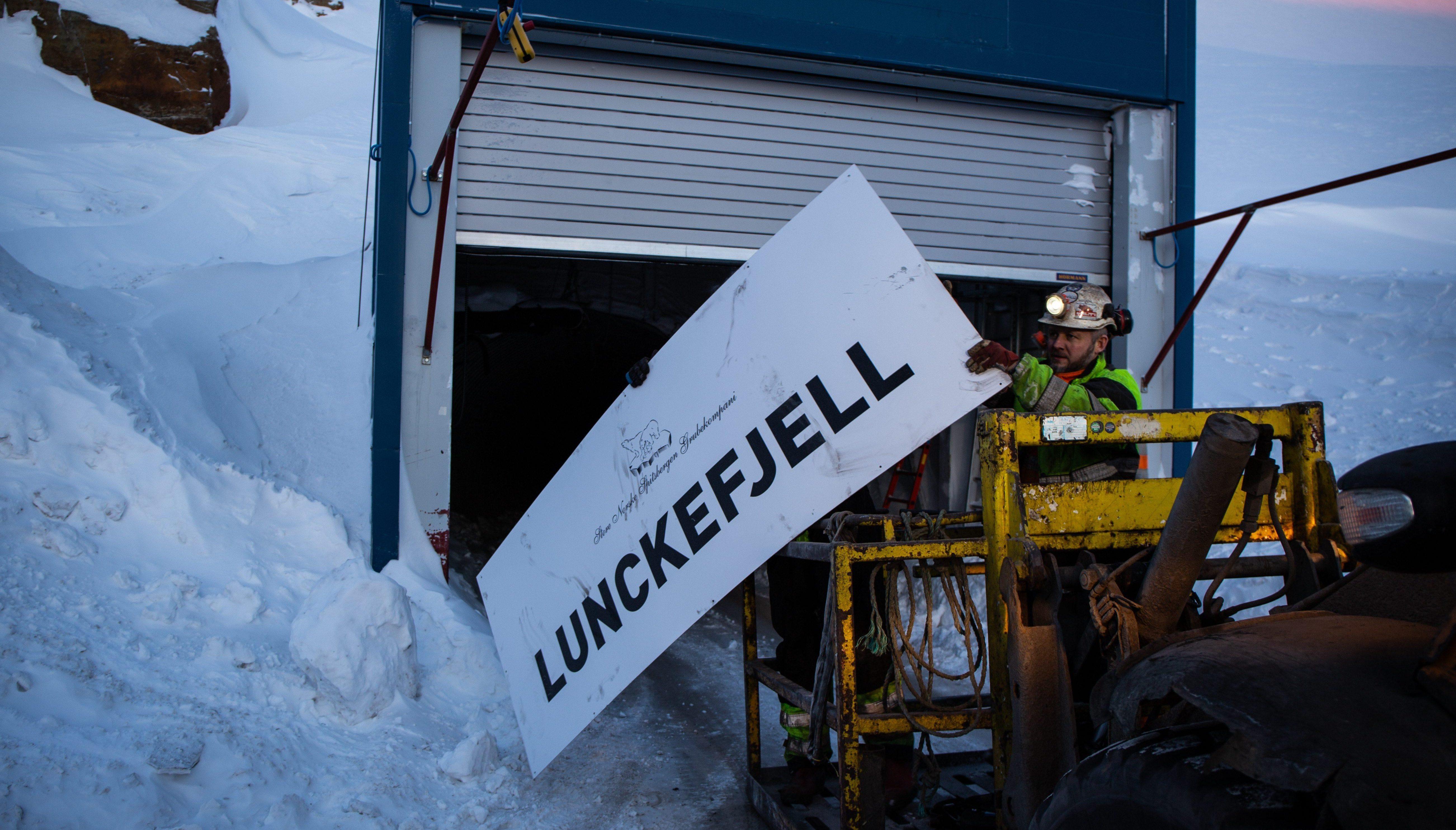 Skiltet tas ned på Lunckefjell