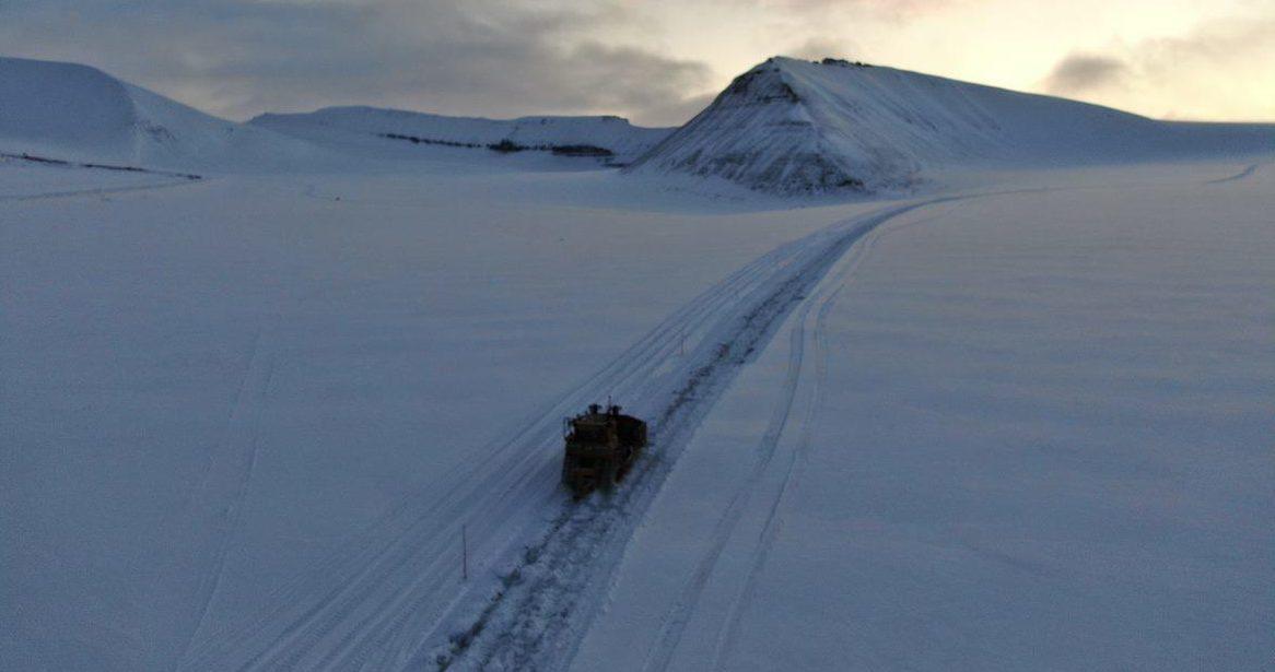 Vintervei fra Lunckefjell til SVea Nord. Store Norske